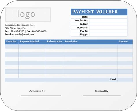 Payment Receipt Voucher Template Excel by 5 Payment Voucher Templates In Word Pdf Format