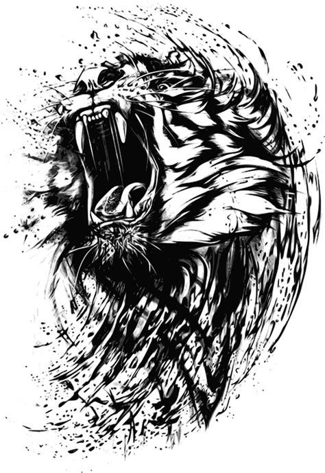 monster tattoo png immagine vettoriale gratis tigre astratto animale