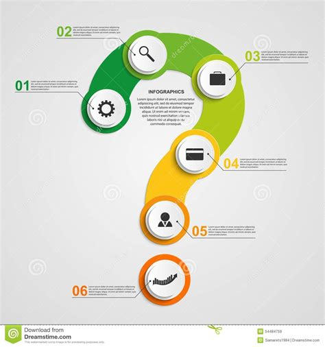 design elements questions abstract colorful infographic in the form of question mark