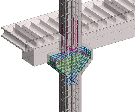 Structural Corbels Precast Column With Corbels In Revit Bim And Beam