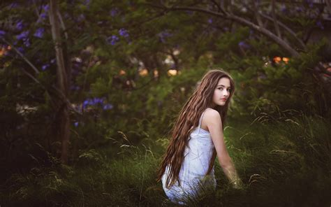 wallpaper girl in nature download wallpaper 1920x1200 girl in the grass long hair