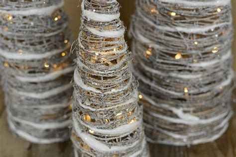 grapevine lighting of the tree 3 led lighted whitewash grapevine cone trees