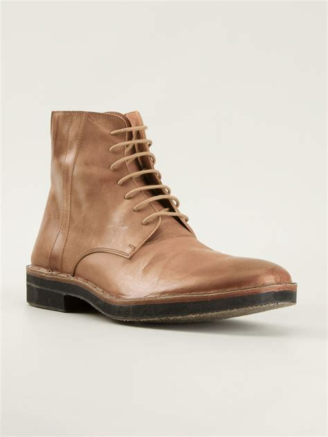 margiela boots mens maison margiela trunk boots in brown for lyst