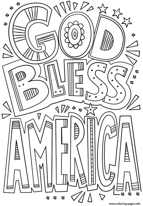 america coloring pages god bless america doodle coloring pages printable