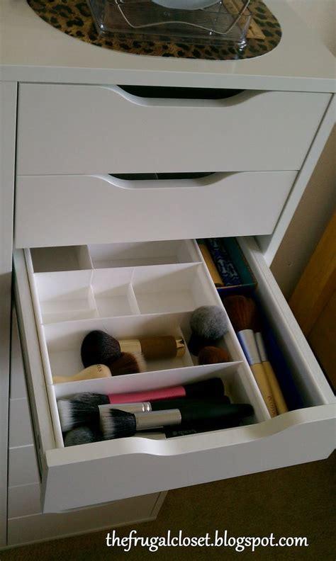 ikea vanity drawer organizer makeup organization from the frugal closet organizing