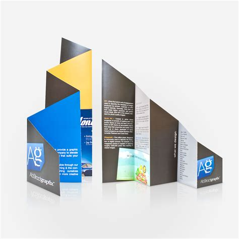 Creative Folding Paper - brochure printing four fold brochure jakprints inc