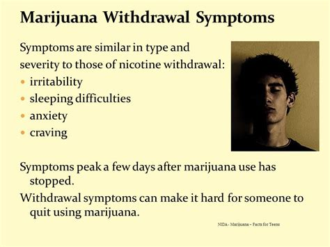 Cannabis Detox Symptoms by The Real Facts About Marijuana Information For