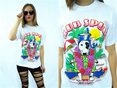 what type of was spuds mackenzie vintage 80s spuds mackenzie club spuds bud light t shirt