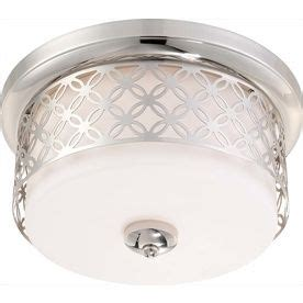 Shop Portfolio 15 98 In W White Flush Mount Light At Lowes 14 Best Lighting Images On Lighting Ideas Flush Mount Ceiling Light And Polished Chrome