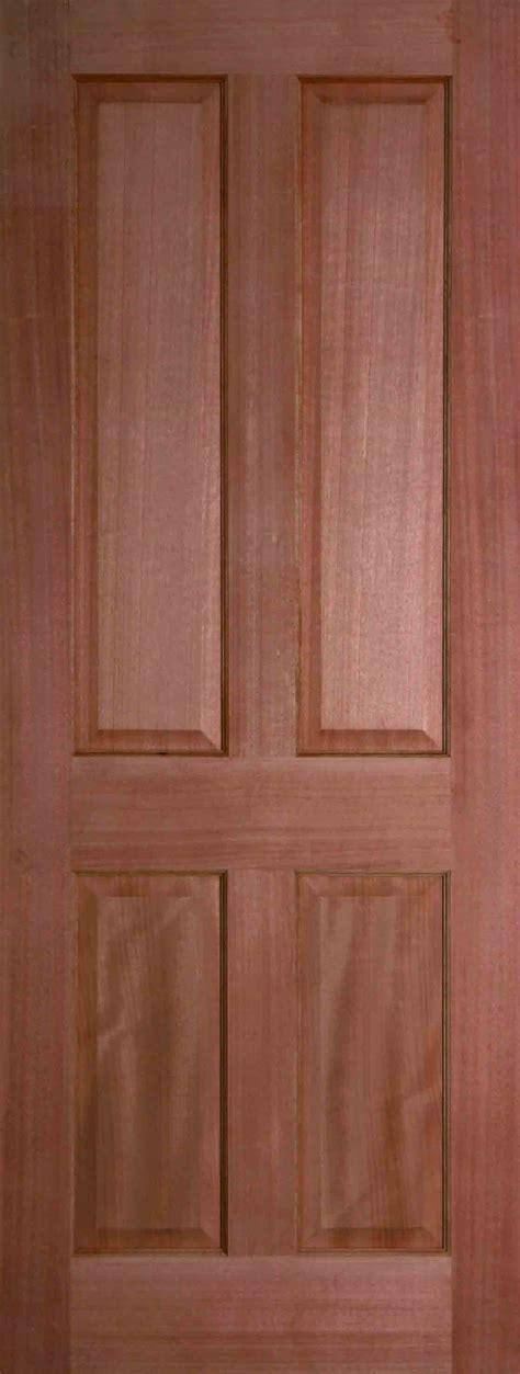 hardwood colonial 4 panel door unfinished finewood