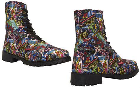 marvel comics combat boots laces assemble