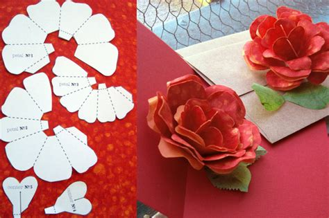 Flower Pop Up Card Templates Pdf by Tarjetas De Rosas En Papel Lodijoella