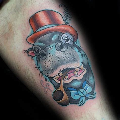 hippo tattoo designs 60 hippo designs for animal ink ideas