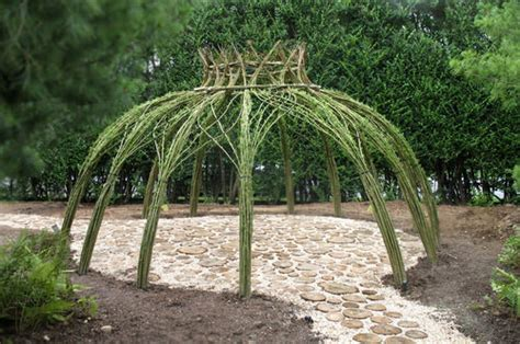willow gazebo living willow outdoor structure home design garden