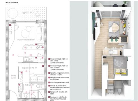 Amenagement Appartement 25 M2 by Am 233 Nagement Studio 25m2 Stunning Plan Amenagement Studio
