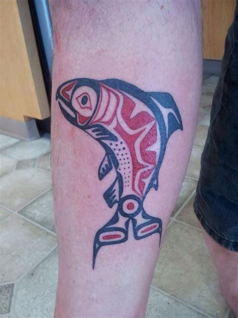 alaskan tattoos designs alaskan salmon salmon tattoos