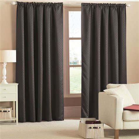 heat retaining curtains woven thermal blackout tape top curtains black