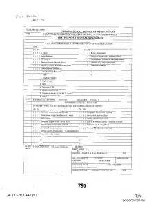 army health record form chronological record of