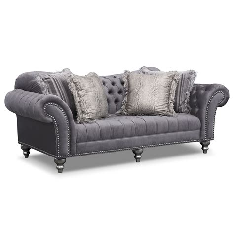 sofa gray value city furniture