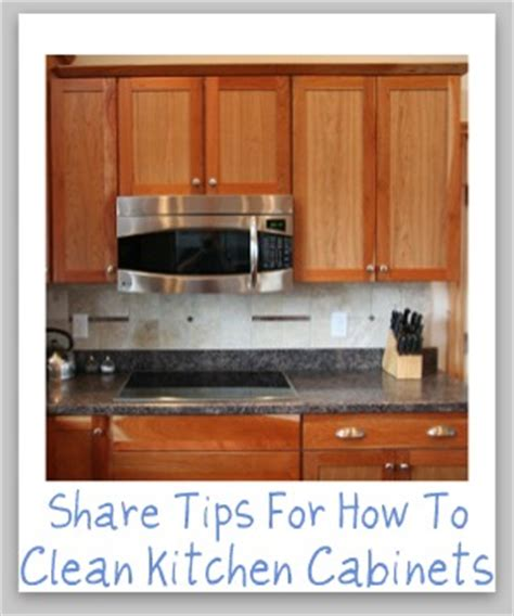 clean kitchen cabinets with these tips and hints