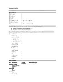 Free Fill In Resume by Blank Printable Resume Form Bestsellerbookdb