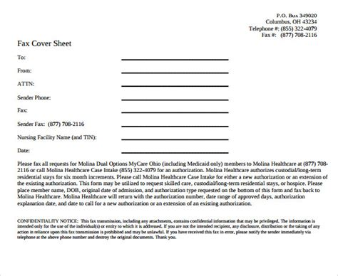 sle confidential fax cover sheet 12 documents in pdf word