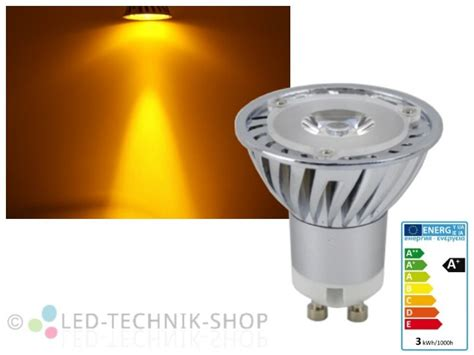 led technik led strahler gu10 gelb orange 3w gu10 led leuchtmittel
