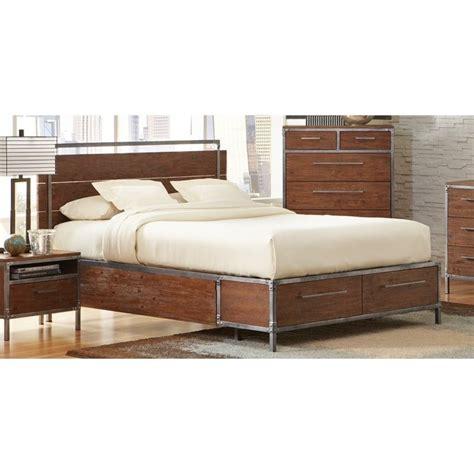 platform king bed with drawers coaster arcadia king platform bed with drawers 203801ke