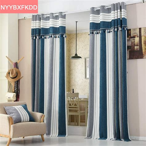 striped drapes window treatments 2016 blue striped modern curtains for the bedroom elegant