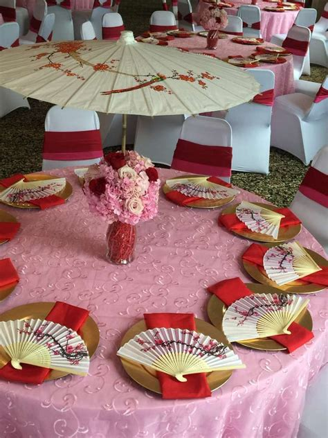 cherry blossom table decorations mulan cherry blossom chinese birthday party ideas