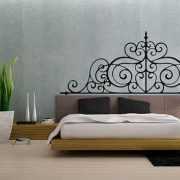 headboard vinyl wall decal headboard vinyl wall decal girls bed room from