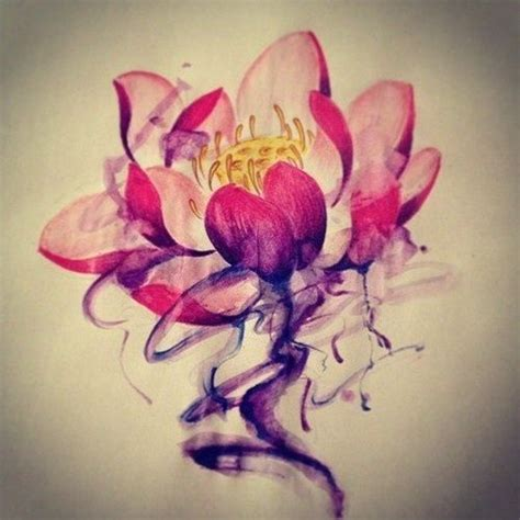 watercolor tattoo victoria lotus on small lotus purple