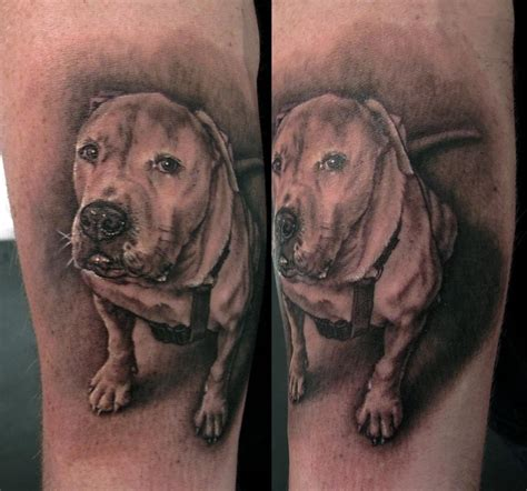 dog portrait tattoo portrait by stefano alcantara tattoonow