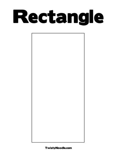 printable rectangle shapes rectangle printable coloring pages