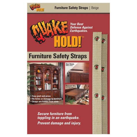 quakehold beige furniture safety 4163 the home depot