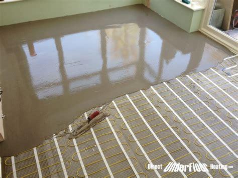 conservatory direct underfloor heating