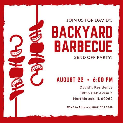 barbecue invite template customize 98 bbq invitation templates canva bbq