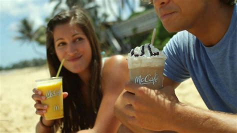 mcdonalds commercial actress on motorcycle mcdonald s mccafe tv spot surfers 567 commercial airings