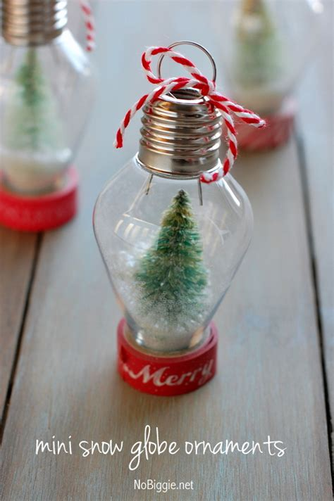 diy mini snow globe ornament
