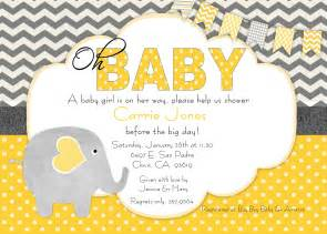 On yellow and gray baby shower invitation filed under baby boy baby