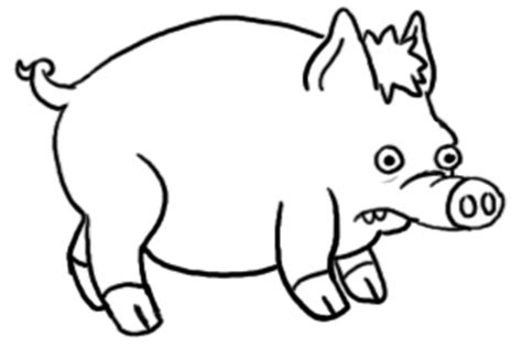 spider pig coloring page pig outline clipart best