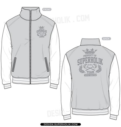 desain vektor jaket fashion design templates vector illustrations and clip
