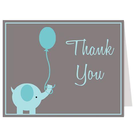 elephant cards elephant balloon blue thank you card products