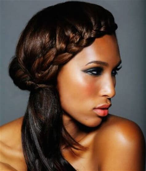 black hair styles for 2015 with one side shaved time to write braided crown side ponytail