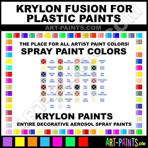 krylon fusion colors krylon paint color chart pictures to pin on