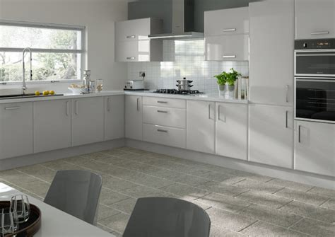 Light Grey Kitchen Brighton High Gloss Light Grey Kitchen Doors From 163 4 16