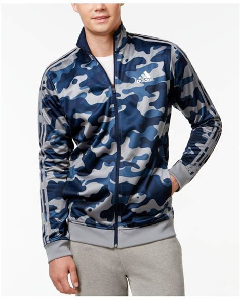 Jaket Adidas Finger Navy Blue Sky adidas s camo print track jacket in blue for navy