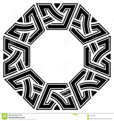 octagon pattern tattoo celtic frame stock vector image 46798428