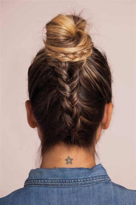 upside down v haircuts upside down braid bun hair tutorial 2 ways to master this