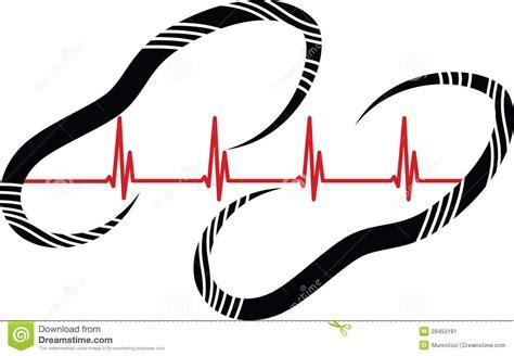 heart walk footprint stock image image  healthcare